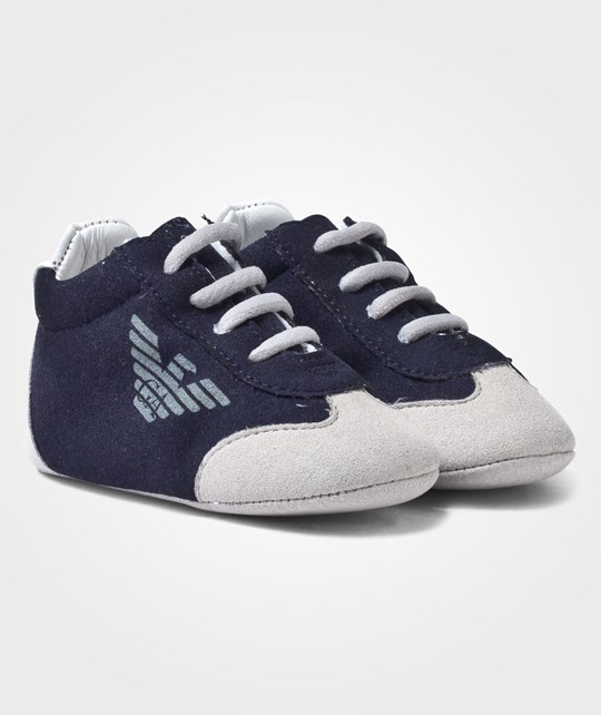 Emporio Armani Baby Shoes Blue Navy Blu Navy