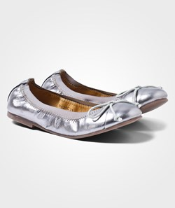Petit by Sofie Schnoor Leather Ballerina Antic Silver