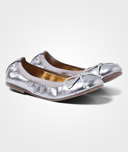 Petit by Sofie Schnoor Leather Ballerina Antic Silver A-SIL
