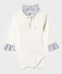 How To Kiss A Frog Chic Baby Body Off White Off white