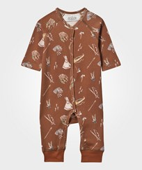 Anïve For The Minors Baby One-Piece Sioux Brun