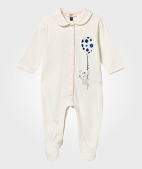 Armani Junior Romper Suit Bianco Latte Bianco Latte