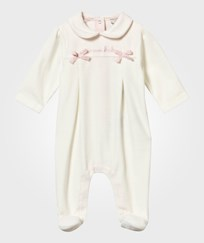 Armani Junior Footed Baby Body Bianco Latte Bianco Latte