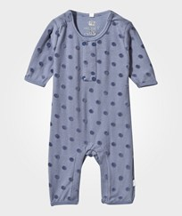 Hust&Claire Baby One-Piece With Polka Dots Metal blue