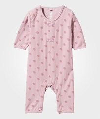 Hust&Claire Baby One-Piece with Polka Dots Powder rose