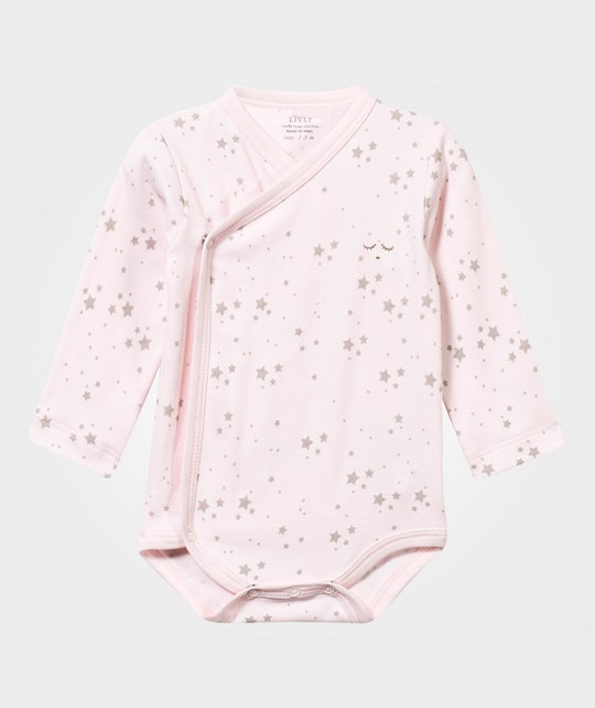 Livly Wrap Baby Body Baby Pink/Grey Stars baby pink/ grey stars