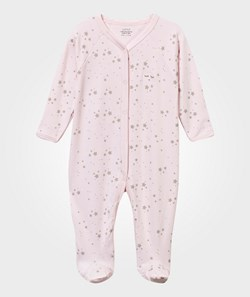 Livly Footed Baby Body Pink/Grey Stars