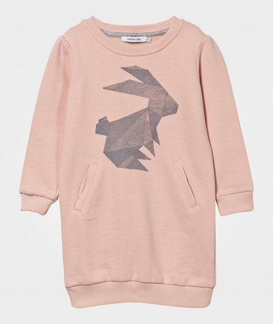 One We Like Hipp Origami Rabbit Dress Pink Pink