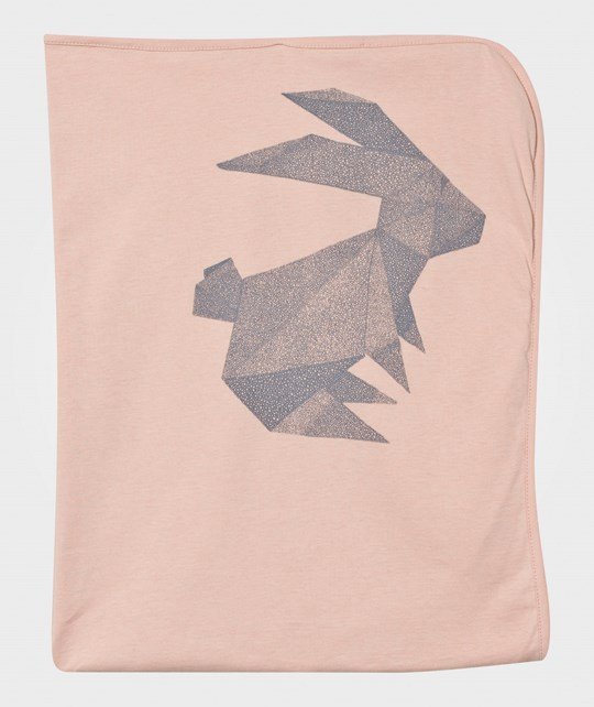 One We Like Blanket Origami Rabbit Pink Pink