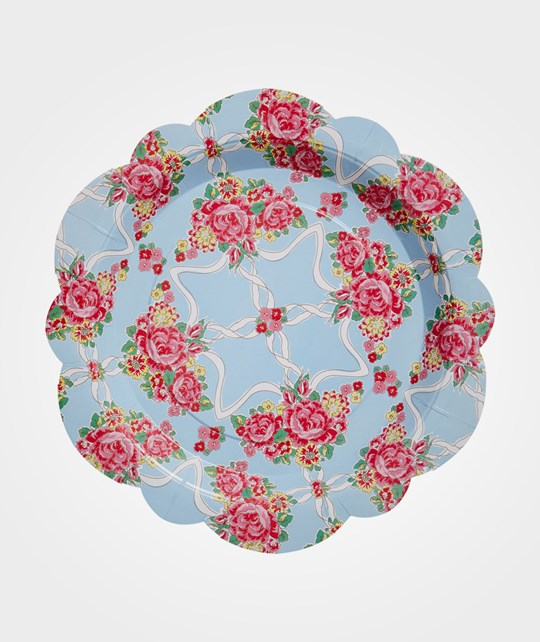 Rice Pack of 8 Flower Shaped Paper Plates Multi