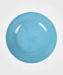 RICE A/S Melamine Round Side Plate Turquoise Turquoise