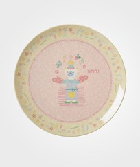 RICE A/S Bamboo Melamine Lunch Plate Girls Cooking Print Girls Cooking