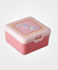 RICE A/S Small Lunchbox Girls Circus Print Circus Print -Soft Pink