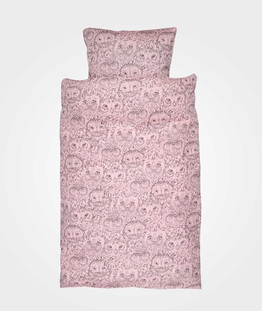 Soft Gallery Owl Baby Bed Linen Coral Coral, AOP Owl