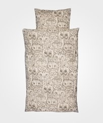 Soft Gallery Owl Junior Påslakanset Cream Cream, AOP Owl
