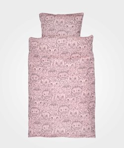 Soft Gallery Owl Junior Bed Linen Coral