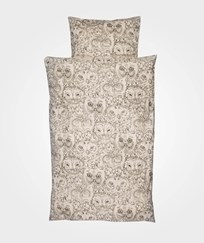 Soft Gallery Owl Adult Påslakanset Cream Cream, AOP Owl