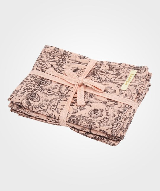 Soft Gallery Owl Muslin Coral Coral, AOP Owl