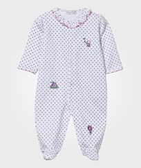 Kissy Kissy Footed Baby Body Clowning Around White/Light Blue