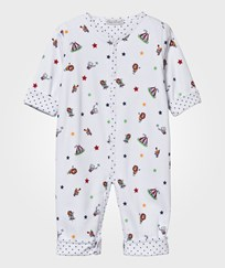Kissy Kissy Reversible Baby One-Piece Clowning Around Navy Marinblå