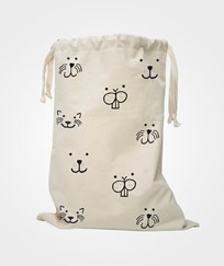 Tellkiddo Animal Face Fabric Bag White