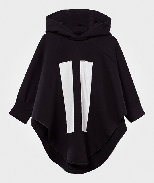 NUNUNU Hooded Bat Top  Black Black
