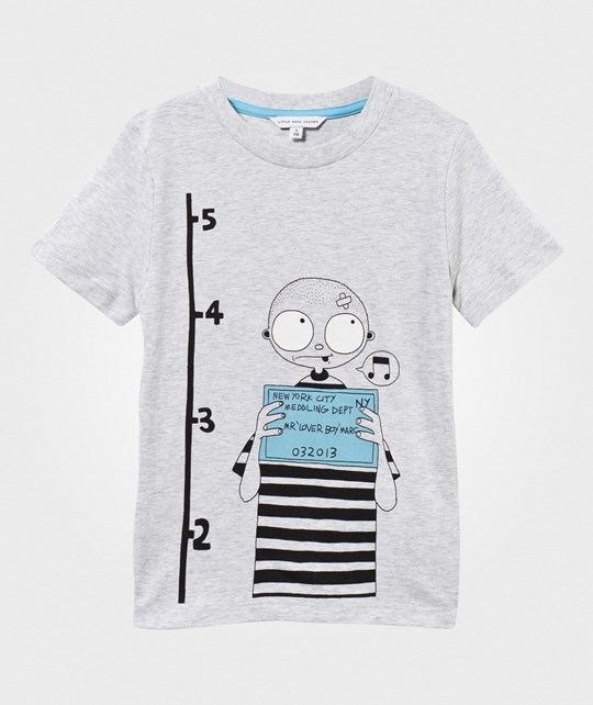Little Marc Jacobs T-Shirt Gris Clair Chine Black