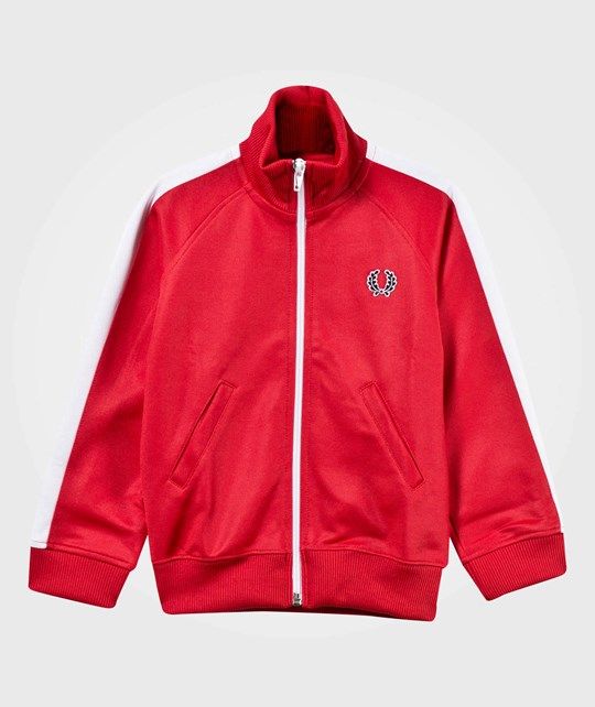 Fred Perry Kids Track Jacket Red/White Red