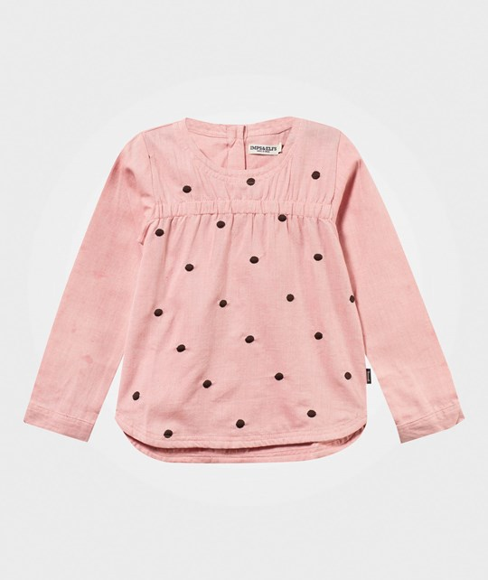 Imps & Elfs Blouse Long Sleeve Shocking Pink Pinkki