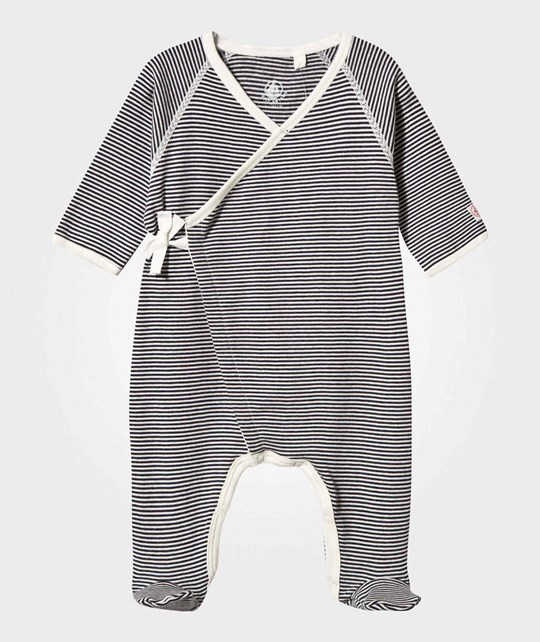 Petit Bateau Wrap Footed Baby Body Smoking/coquille smoking/coquille