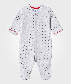 Petit Bateau Footed Baby Body Poussiere/Medieval