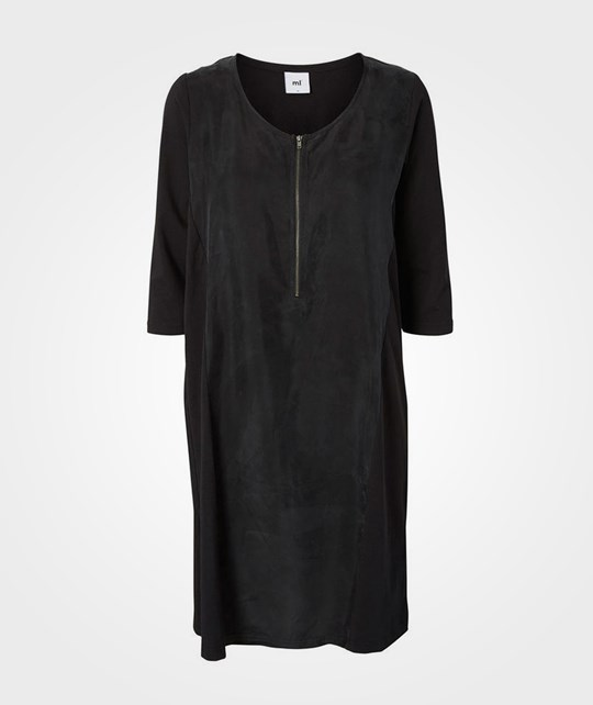 Mamalicious Mljuna 3/4 Mix Dress Black Black