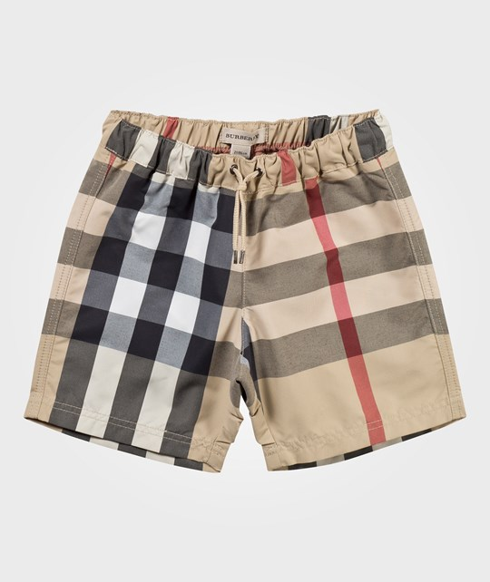 Burberry Swimming Trunks Stone Check
