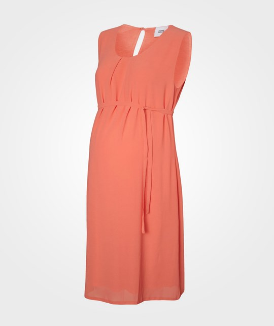 Mamalicious ML Souri SL Woven Dress Spiced Coral Pink