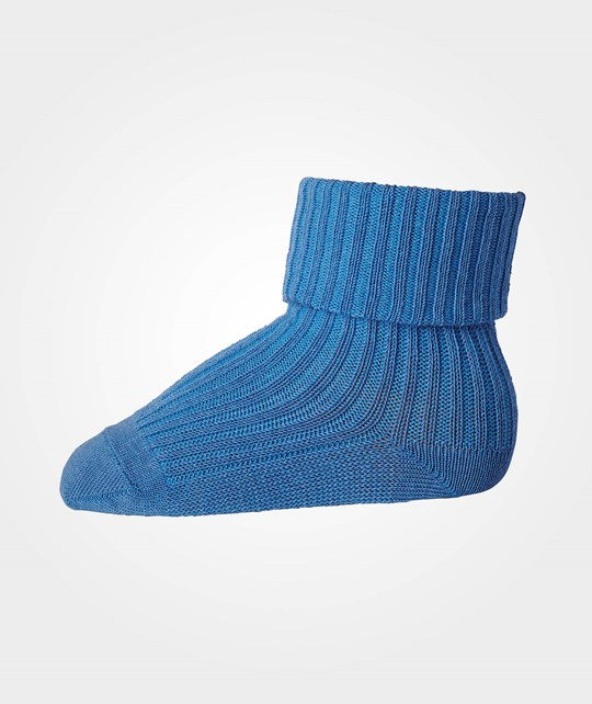 MP Wool Ankle Rib Socks Blue 1150-Blue
