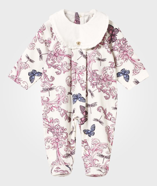 Versace Baroque Footed Baby Body White MULT /BIANCO