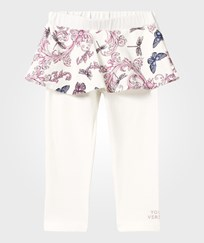 Young Versace Butterfly Skirt With Cotton Leggings BIANCO/MULT /PINK