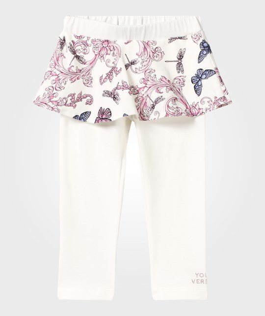Versace Butterfly Skirt With Cotton Leggings BIANCO/MULT /PINK