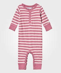 eBBe Kids Amore Baby One-Piece Dusty Pink /Off White Stripe Dusty pink /offwhite stripe