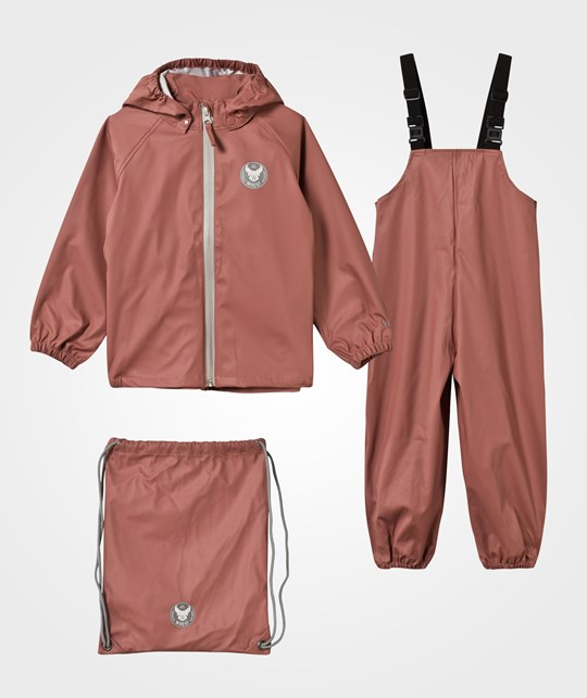 Wheat Rain Jacket and Overall Rouge Pink