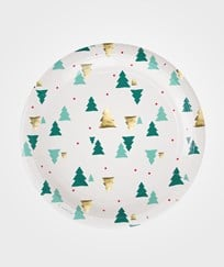 My Little Day 8 Paper Plates - Christmas Trees Christmas trees