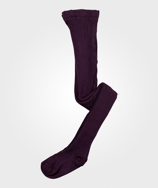 Melton Classic Tights W/Bamboo Millie Dusty Purple Lilla