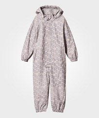Mini A Ture Reinis Violet Lined Rainsuit Ice Print Violet Ice