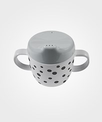 Done by Deer 2-Handle Spout Cup Happy Dots Grey Black