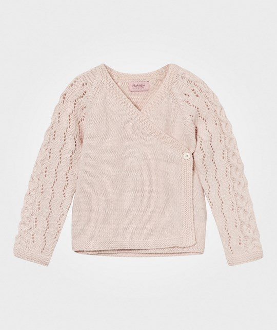 Noa Noa Miniature Wool Wrap Cardigan Peach Blush Peach Blush