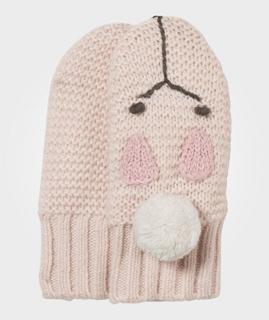 Noa Noa Miniature Basic Wool Mittens Peach Blush Peach Blush