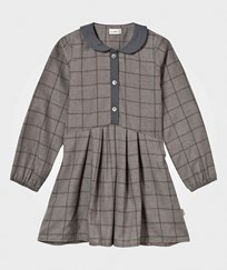 Hust&Claire Plaid Dress Light Grey Melange