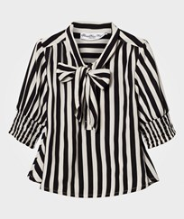How To Kiss A Frog Poppy Blouse Stripe Black/White STRIPE BLACK/WHITE