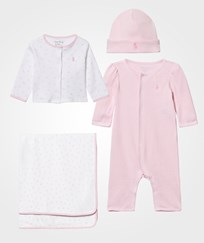 Ralph Lauren ABC 4-Piece Gift Set Fresh Pink/White Fresh Pink/white