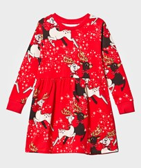 Mini Rodini Reindeer Dress Red Red